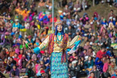 Dochula Druk Wangyel festival 2014 Royaltyfria Foton