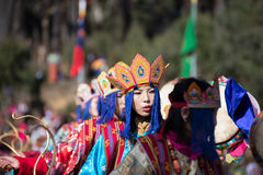 Dochula Druk Wangyel Festival 2014 Royalty Free Stock Photo