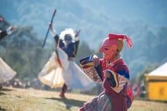 Dochula Druk Wangyel Festival 2014. THIMPHU - BHUTAN, DECEMBER 13 : Dochula Druk Wangyel Festival 2014. December 13, 2014 Stock Images