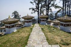 Dochula passerande, Punakha, Bhutan Fotografering för Bildbyråer