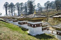 Dochula passerande, Punakha, Bhutan Royaltyfria Foton