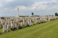 Dochy Farm CWGC Cemetery First World War graves Stock Images