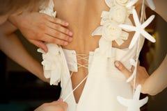 Dociskać bridal gorsecika Zdjęcie Stock