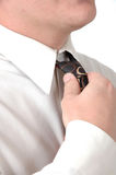 docisnąć krawat Fotografia Royalty Free