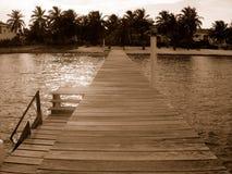 Dock à Belize Photographie stock libre de droits