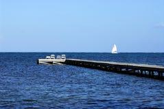 Dock à Belize Photographie stock