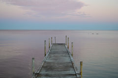 A Dock on Øresund Strait from Denmark. The Danish side of the strait, looking over at Sweden royalty free stock photos
