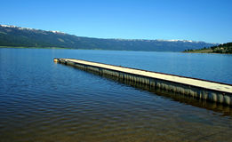 Dock 3. Dock located at Lakefront Marina, Cascade Lake, Idaho Royalty Free Stock Photo