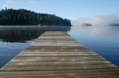 Dock. Empty dock at rock lake royalty free stock photos