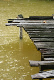 Dock. A dock in the rain Royalty Free Stock Photos
