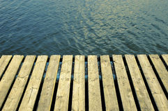 Dock. A mobile dock Stock Images