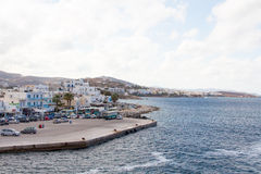 The dock on the Aegean sea Royalty Free Stock Photos