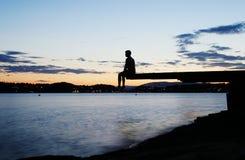 Dock au crépuscule Image libre de droits
