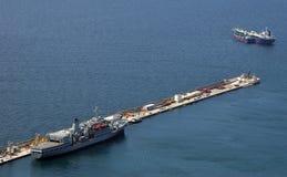 dock au Gibraltar Photos stock