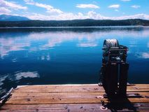 Dock auf einem See Stockfoto