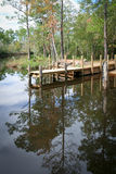 Dock on a Bayou Royalty Free Stock Photo