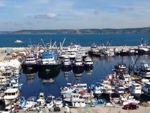 Dock bei Schwarzem Meer Stockfotografie