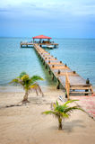 Dock in Belize. Dock on the Beach in the Country of Belize stock image