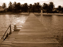Dock in belize. Belizian central america Royalty Free Stock Photography