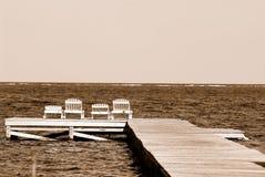 Dock in Belize Stockbilder