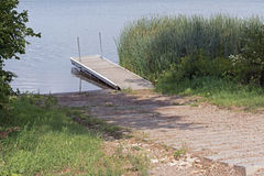 A Dock at a Boat Launch Royalty Free Stock Photos
