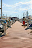 Dock for boats and yachts Royalty Free Stock Images
