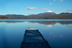 Dock On Calm Yukon Lake Stock Photos