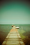 Dock caye caulker belize Royalty Free Stock Image