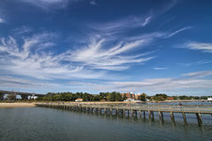 Dock In Chesapeake Bay Royalty Free Stock Image