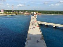 Dock chez Cozumel Mexique Images stock