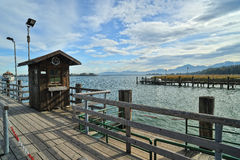 Dock at Chiemsee lake Stock Image