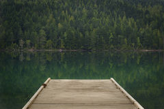 Dock at Clearwater Lake, Wells Gray Provincial Park, North Thomp Royalty Free Stock Images