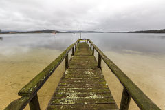Dock in Bay of Fires Stock Image