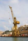 Dockside crane on wharf Royalty Free Stock Photos