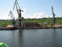 Dock crane Stock Image