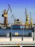 Dock Cranes Royalty Free Stock Photos