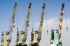 Dock cranes Stock Photos