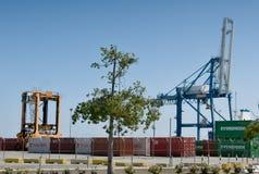 Dock Cranes At Limassol Cyprus Royalty Free Stock Photos
