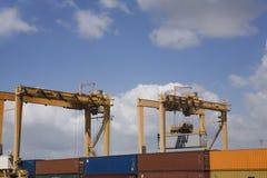 Dock Cranes At Limassol Cyprus Stock Image
