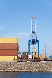 Dock cranes. Stock Images