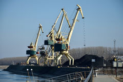 Dock cranes Royalty Free Stock Images