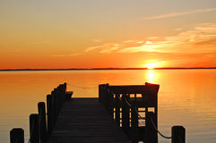 Dock on the Currituck Sound Royalty Free Stock Image