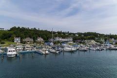 Dock d'île de Mcakinac Image stock