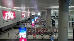 Dock d'arrivée d'aéroport de Changhaï Hongqiao pour le laggage reprenant Photo libre de droits