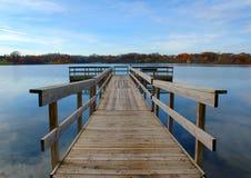 Dock d'automne Images libres de droits