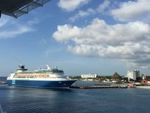 Dock dans Cozumel Mexique Photographie stock