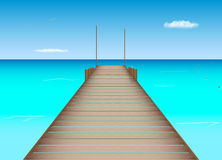 Dock dans l'emplacement tropical Photos stock