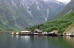 Dock dans le fjord Photographie stock