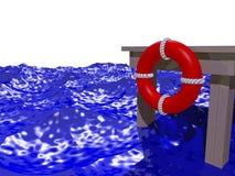 Dock dans les ondes Images libres de droits