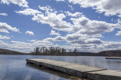 Dock Day Lake Royalty Free Stock Images